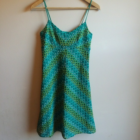 LOFT Dresses & Skirts - LOFT | Strappy Green & Blue Crochet Dress
